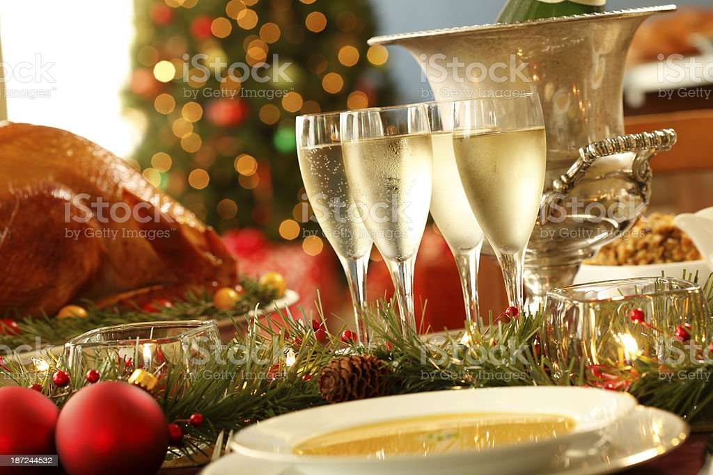 Christmas Dinner royalty-free stock photo