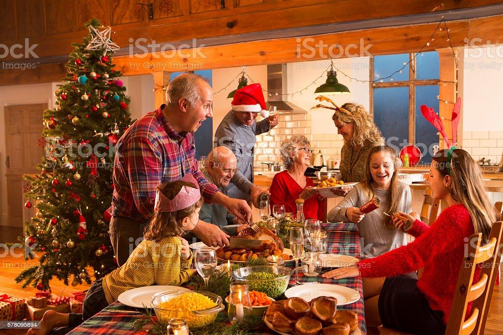Jantar de Natal - fotografia de stock