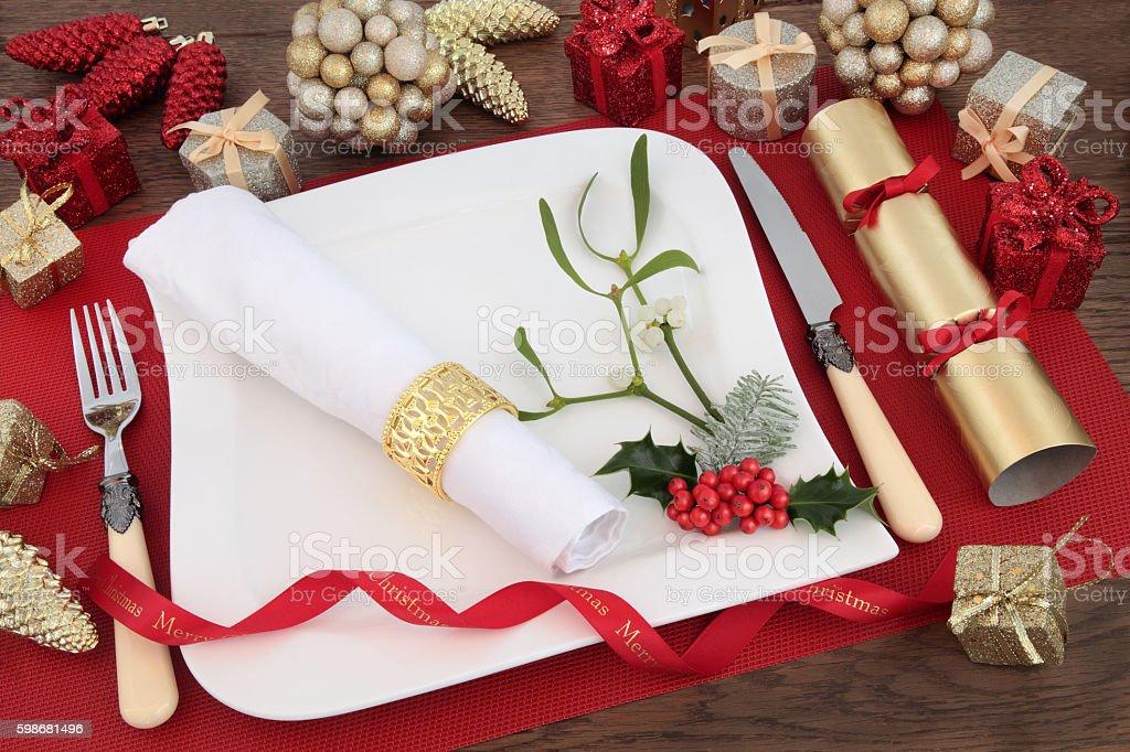 Christmas Dinner Scene stock photo