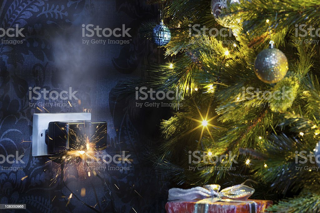 Christmas disaster stock photo