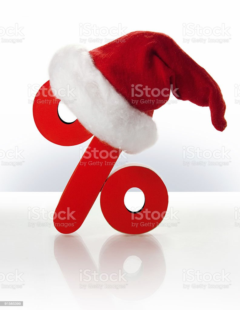 Christmas discount royalty-free stock photo