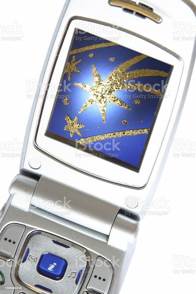 Christmas Display - Phone royalty-free stock photo