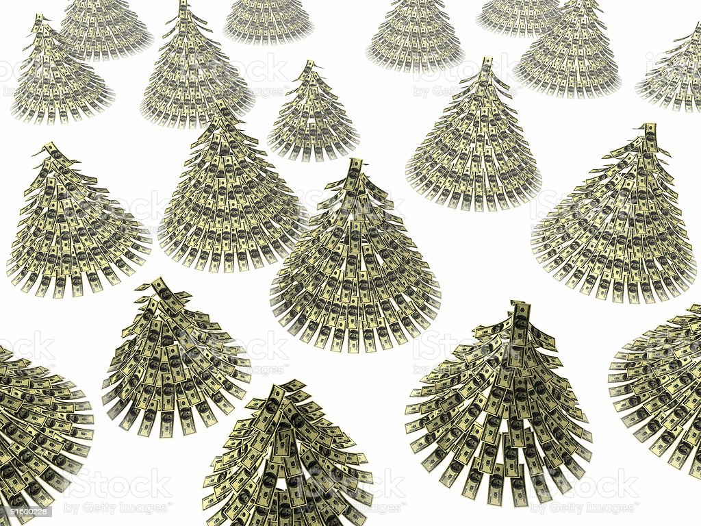 Christmas dollars royalty-free stock photo