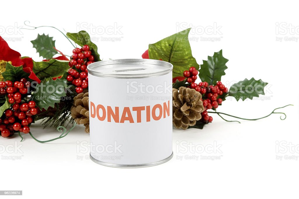 Christmas donation royalty-free stock photo