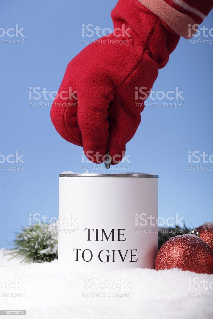 Christmas Donations stock photo