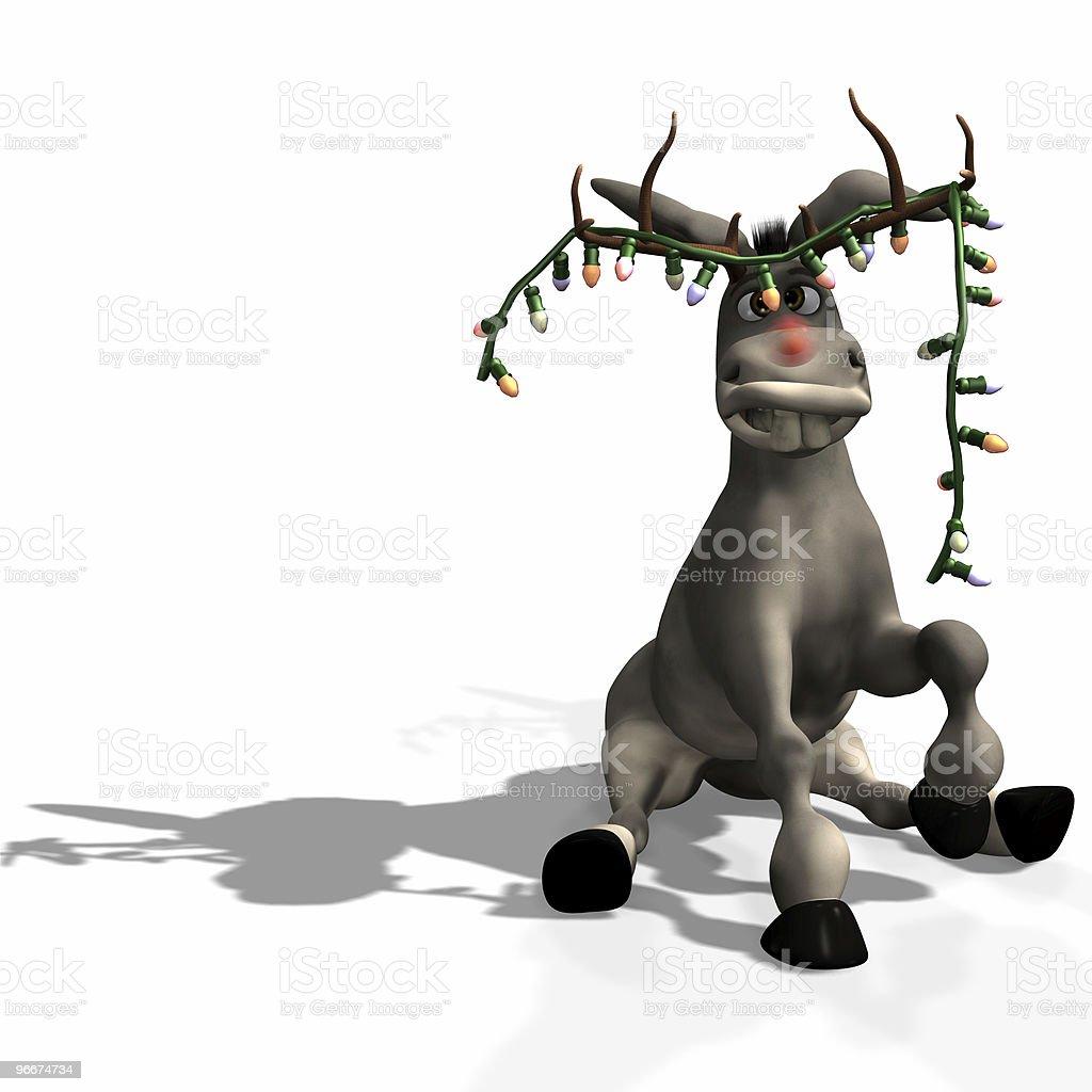 Christmas Donkey royalty-free stock photo