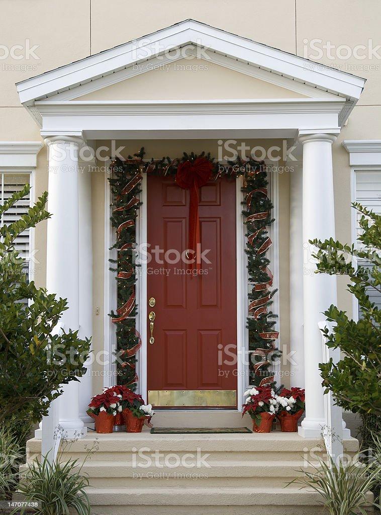 Christmas Door royalty-free stock photo
