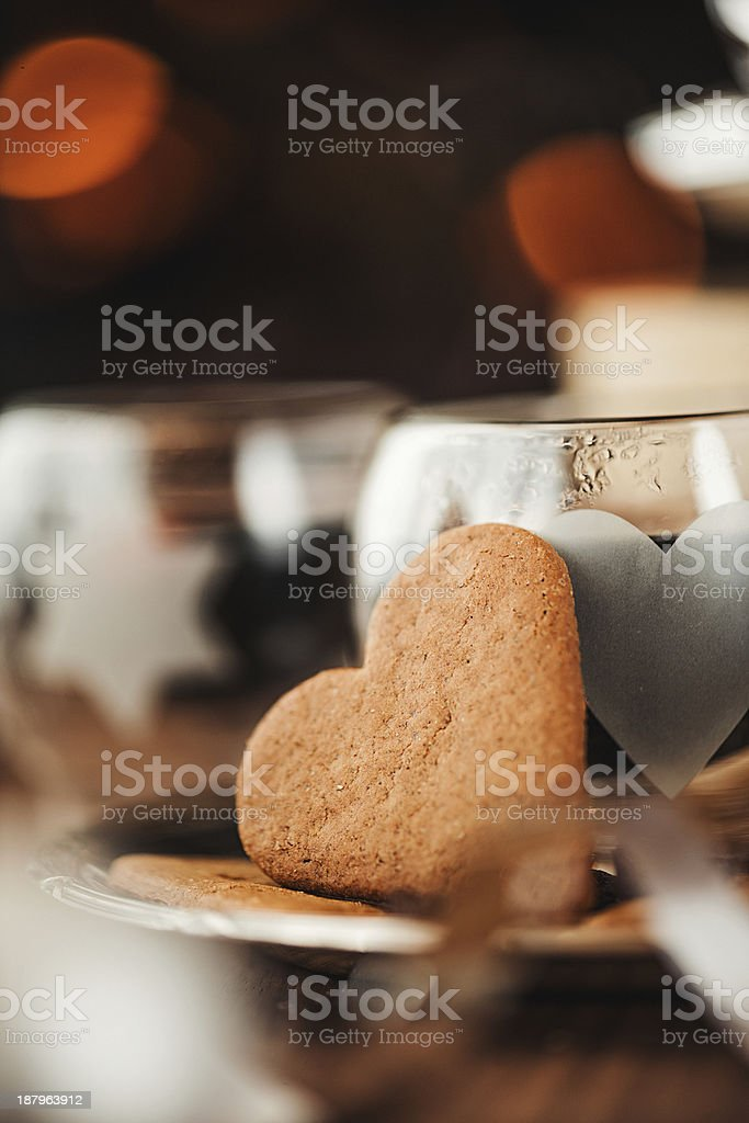 Christmas dring and ginger bread cookie royalty-free stock photo