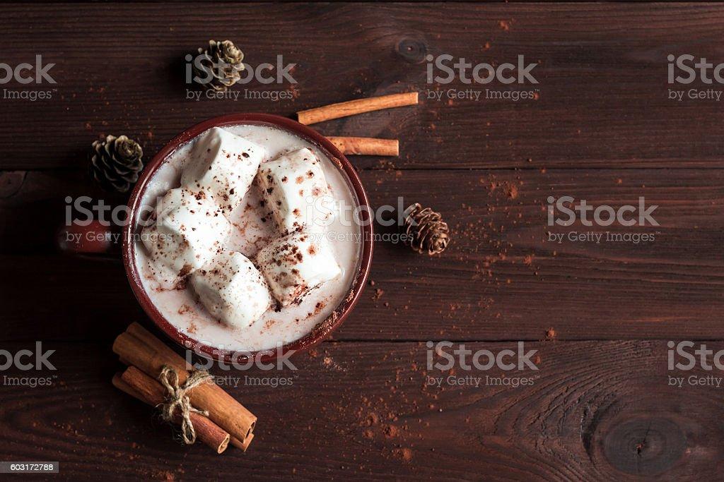 Christmas drink. Hot chocolate stock photo