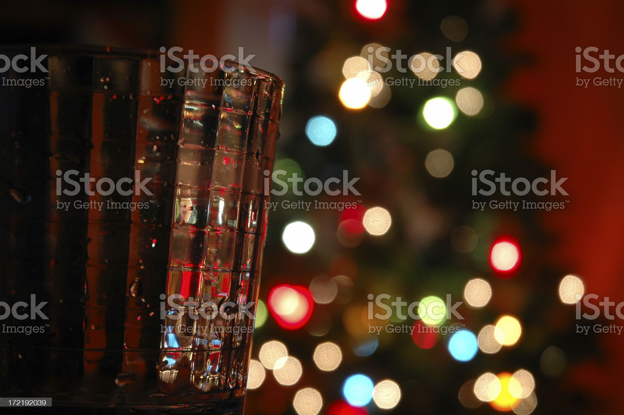 Christmas drinking glass royalty-free stock photo