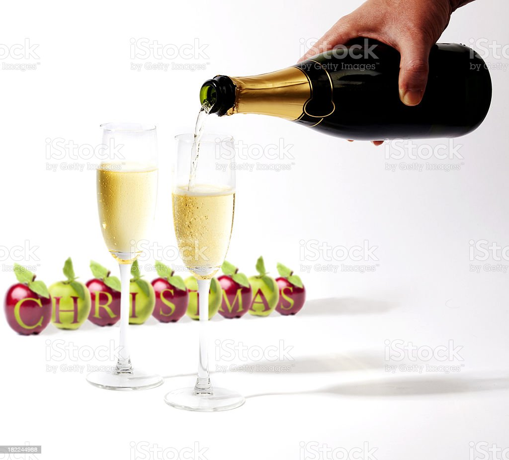 Christmas drinks royalty-free stock photo