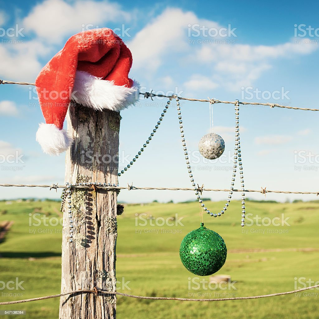 Christmas during summer stock photo