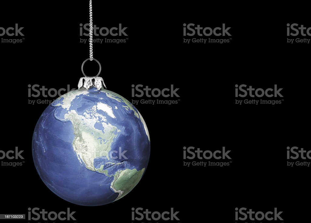 Christmas Earth ornament royalty-free stock photo