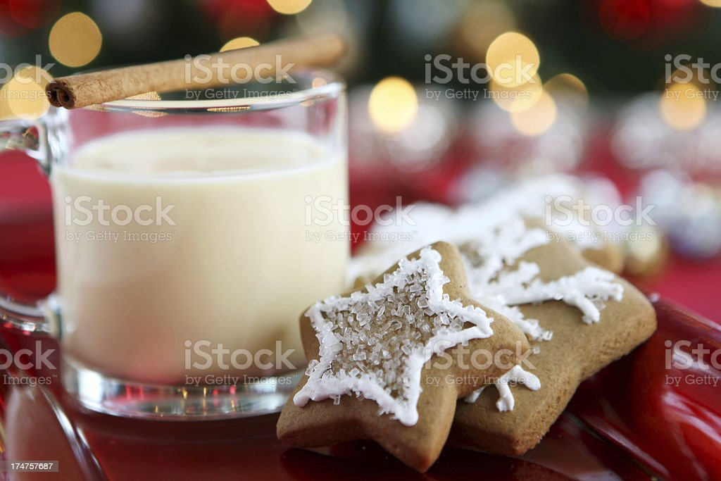 christmas eggnog royalty-free stock photo