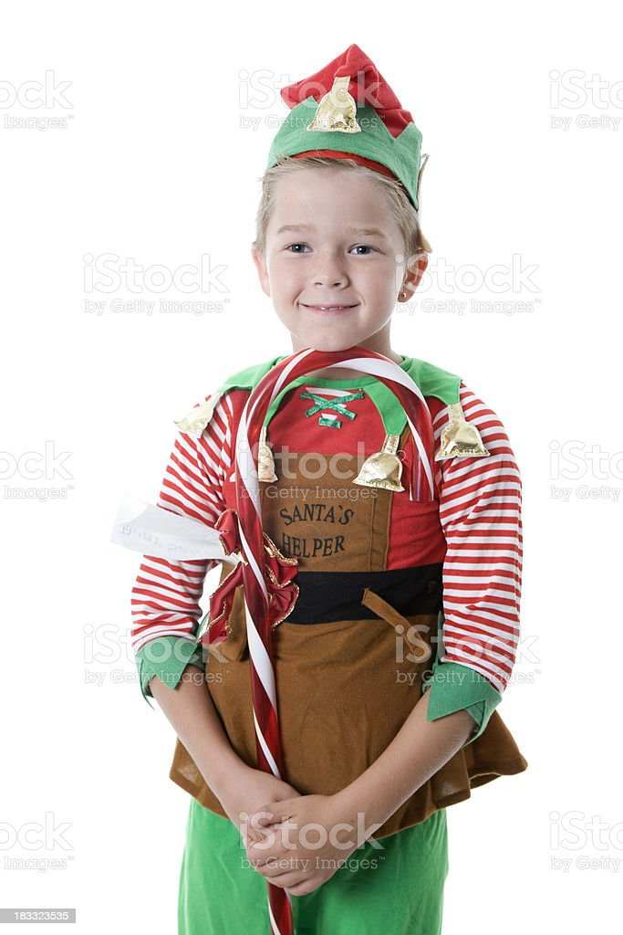 Christmas Elf Boy stock photo
