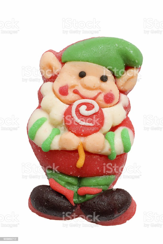 christmas elf candy royalty-free stock photo