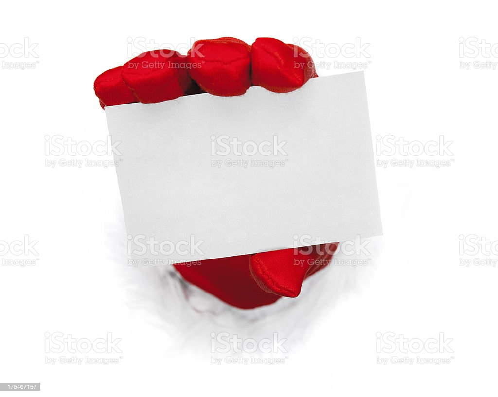 Christmas empty card royalty-free stock photo