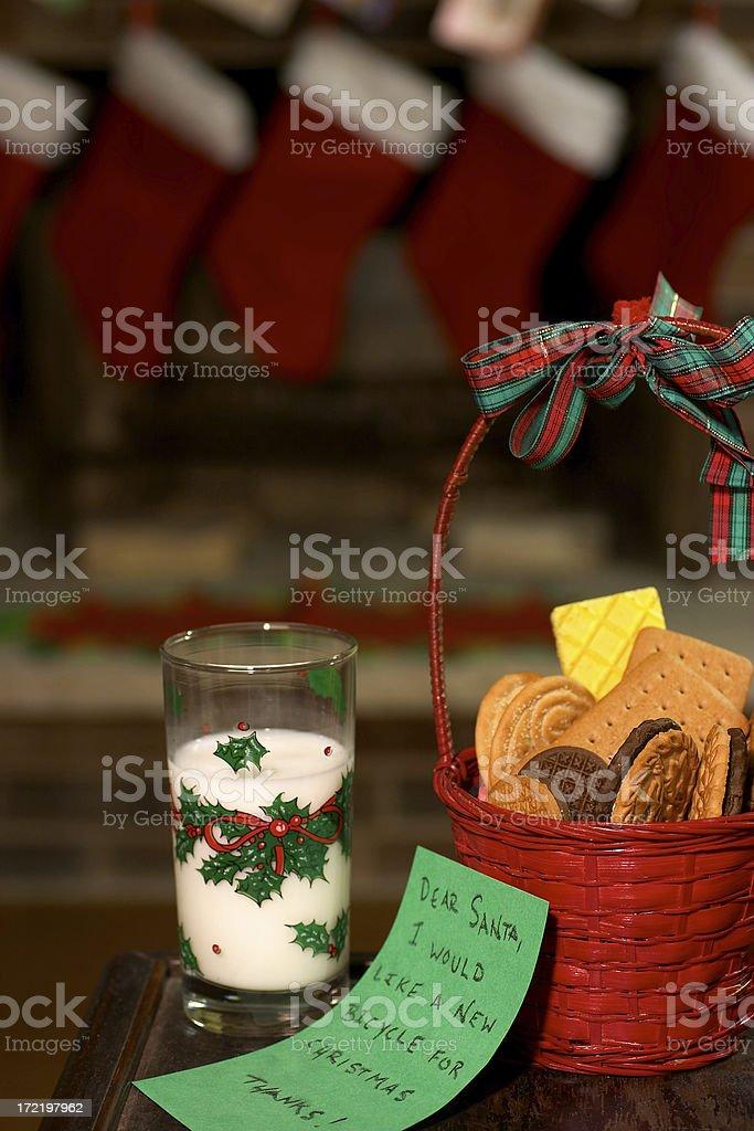 Christmas Eve Milk & Cookies stock photo