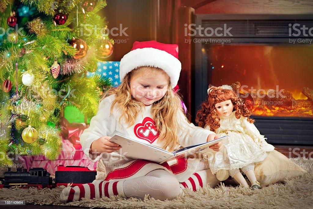 Christmas evening royalty-free stock photo
