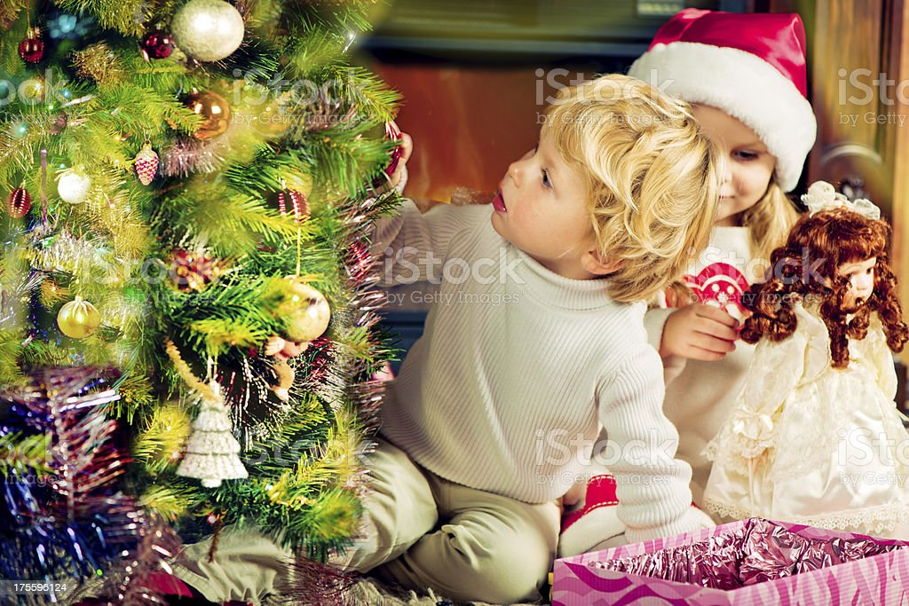 Christmas evening royalty-free stock photo