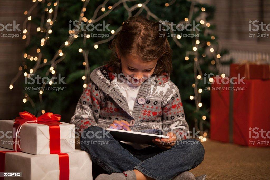 Christmas excitement stock photo