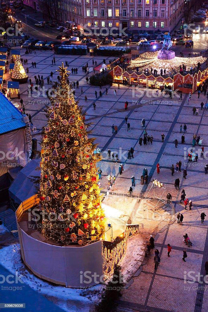 Christmas fair, Kiev, Ukraine. stock photo