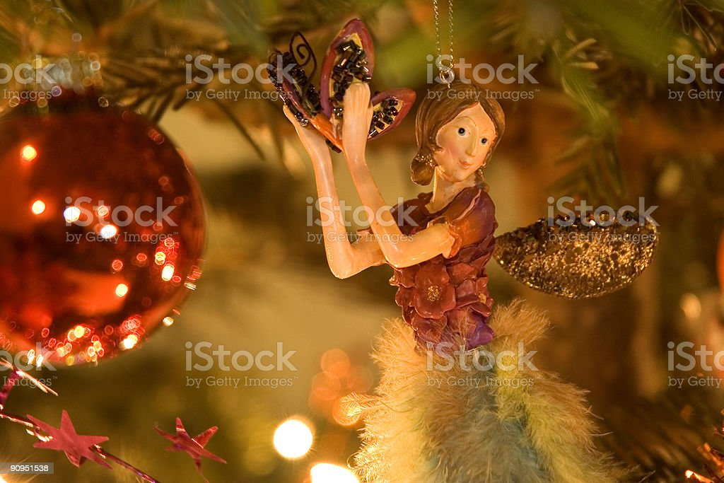 Christmas fairy in the tree royalty-free stock photo