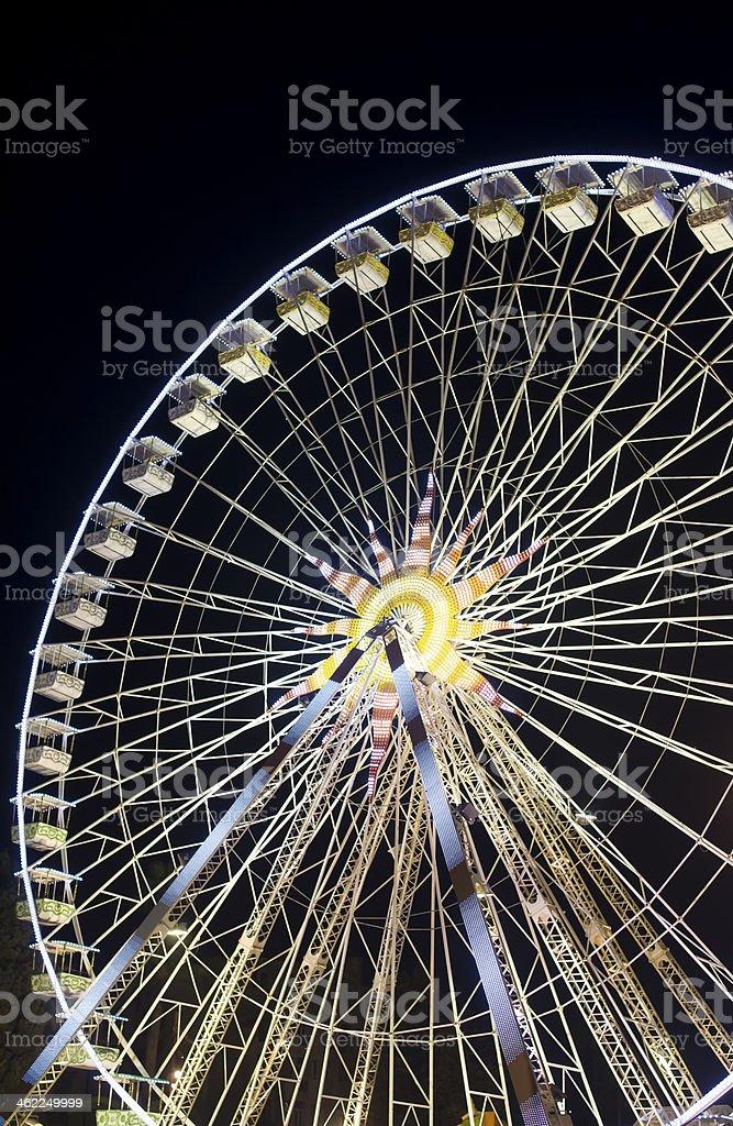 Christmas ferries wheel stock photo