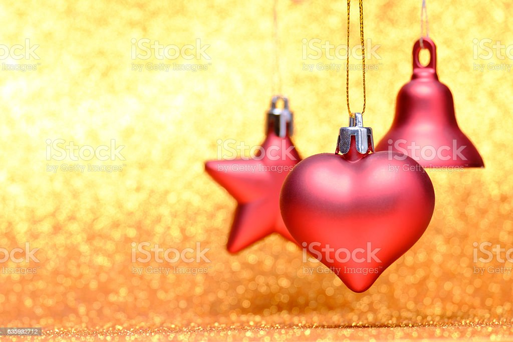 Christmas festive decorations on colorful background stock photo