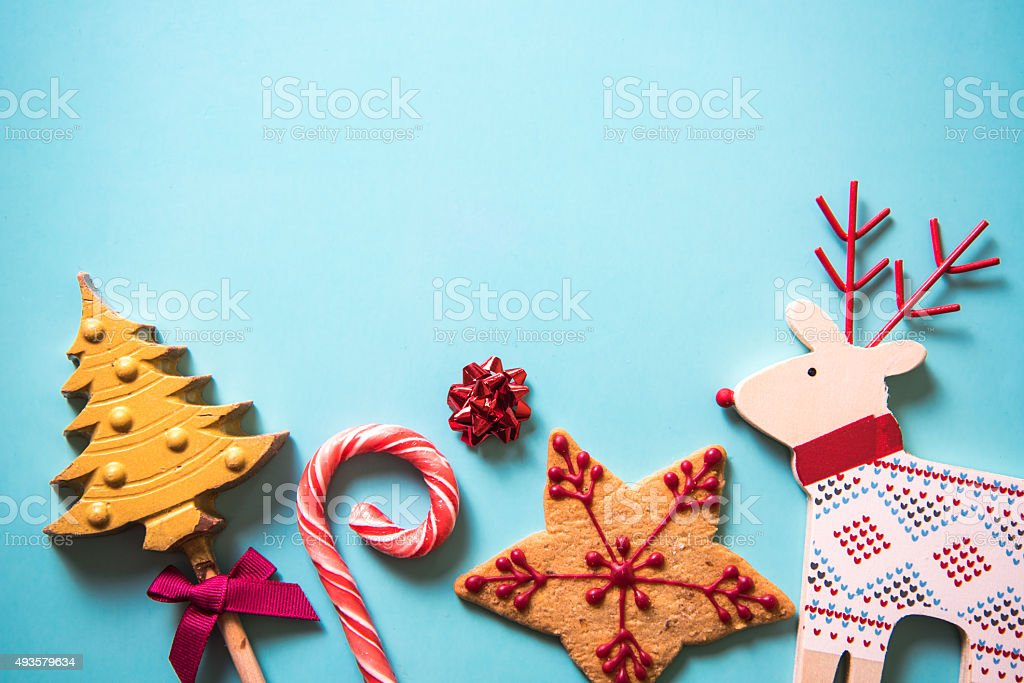 Christmas festive sweets food background stock photo