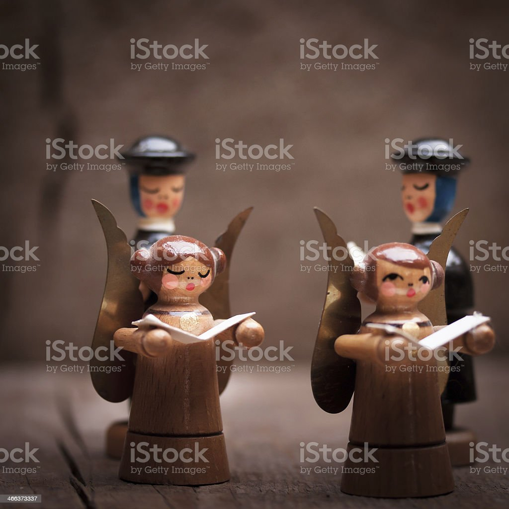Weihnachtliche Figuren stock photo