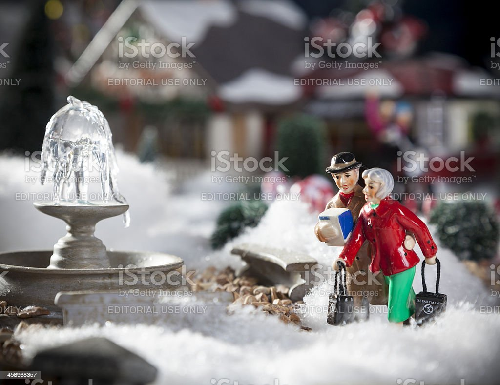 Christmas Figurines royalty-free stock photo