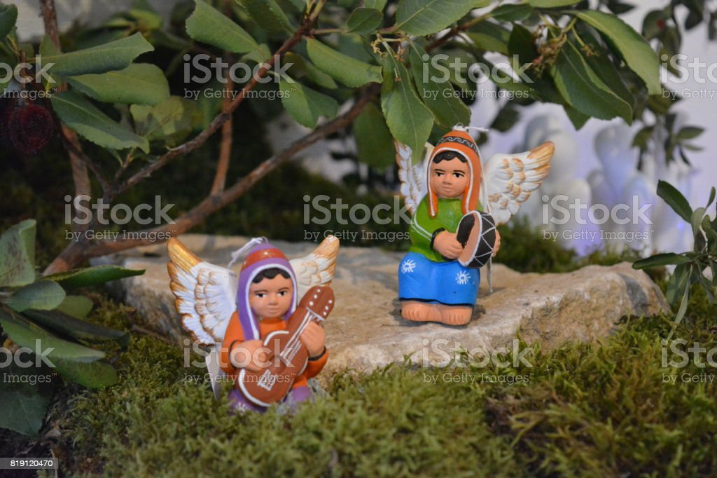 Christmas figurines stock photo