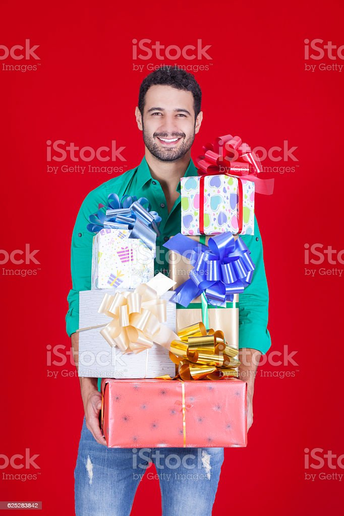 Christmas fills us with happiness stock photo