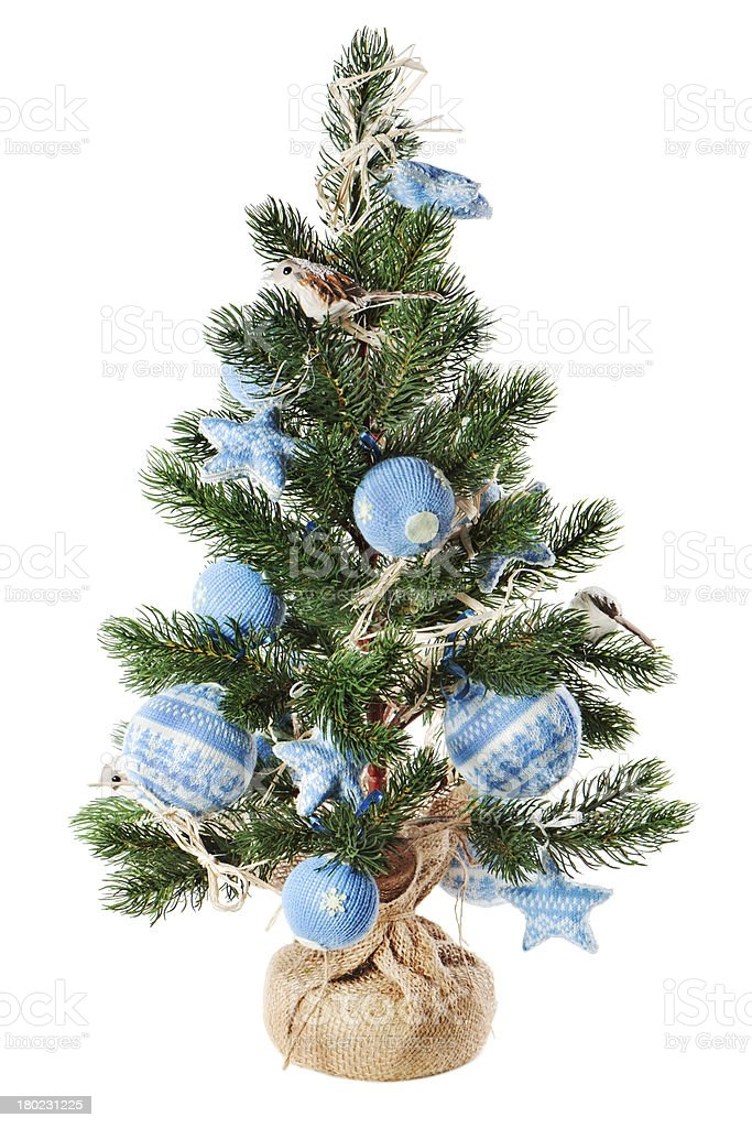 Christmas fir tree decorated with toys and decorations royalty-free stock photo