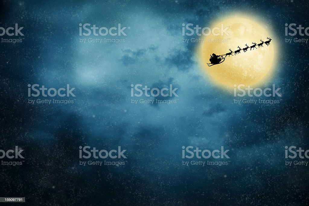 Christmas Flight stock photo
