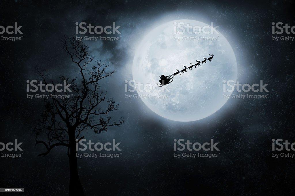 Christmas Flight stock photo