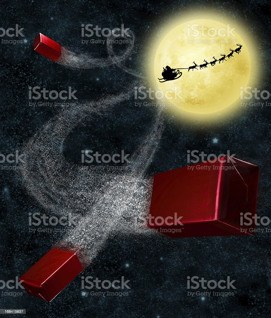 Christmas Flight royalty-free stock photo