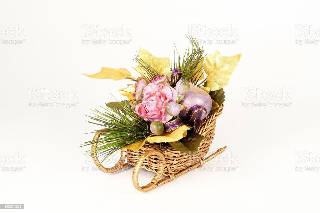 Christmas Flower Arrangement royalty-free stock photo