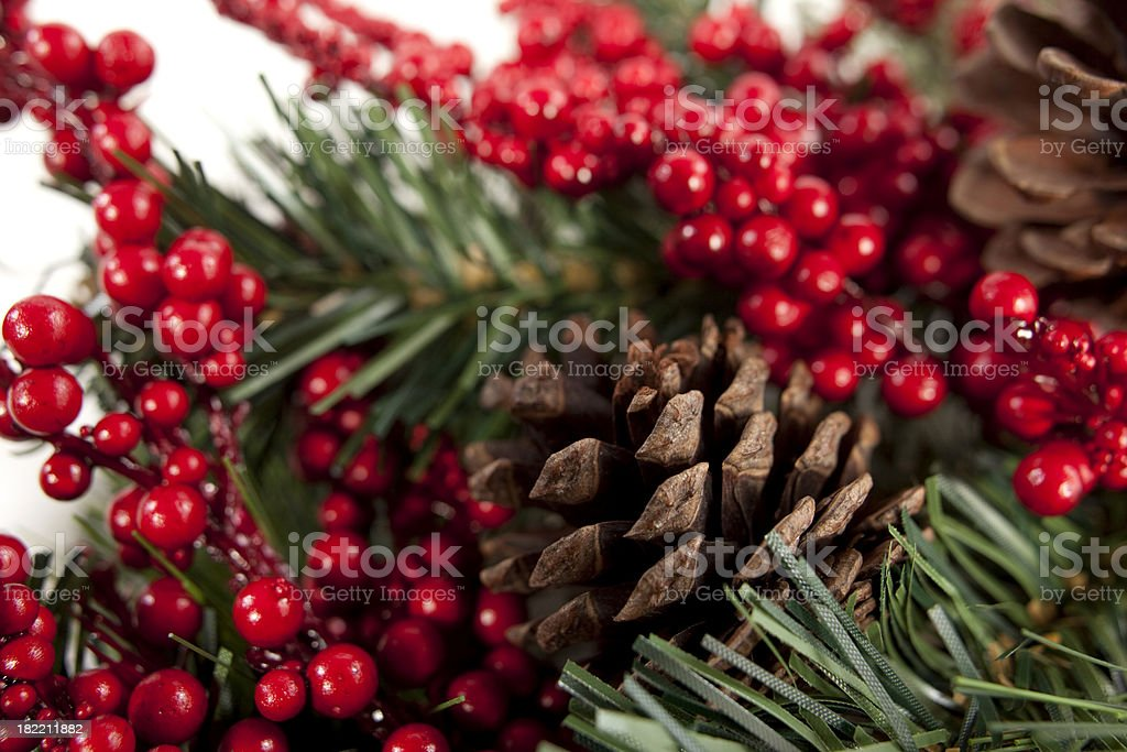 Christmas Foilage Background royalty-free stock photo