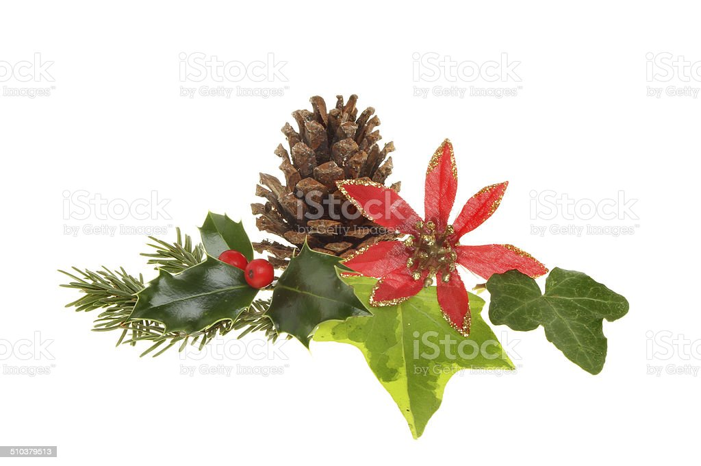 Christmas foliage stock photo