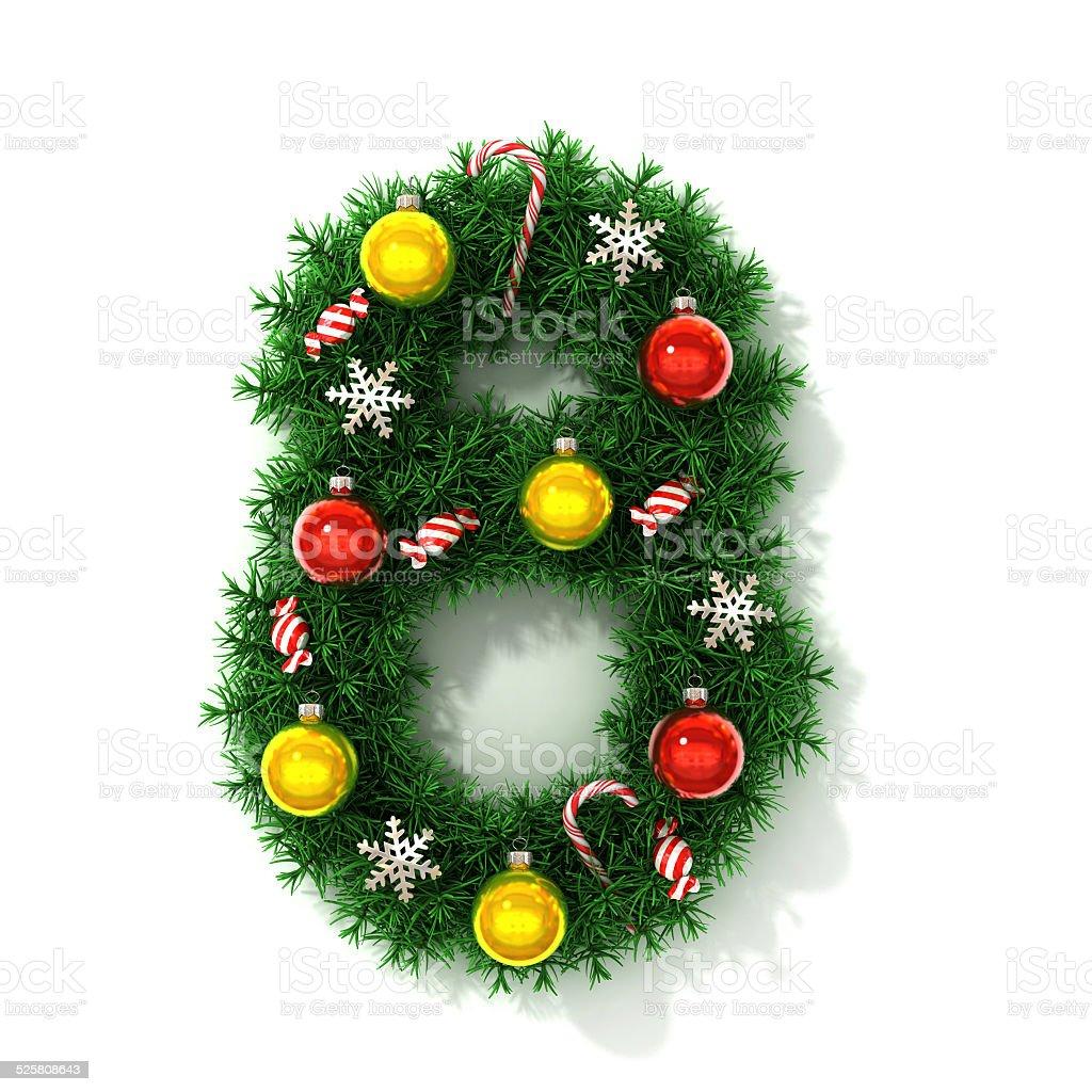 Christmas Font Number 8 Royaltyfree Stock Photo