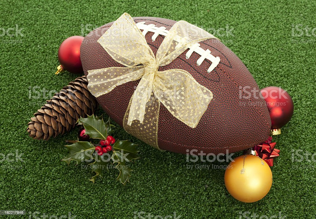 christmas football stock photo