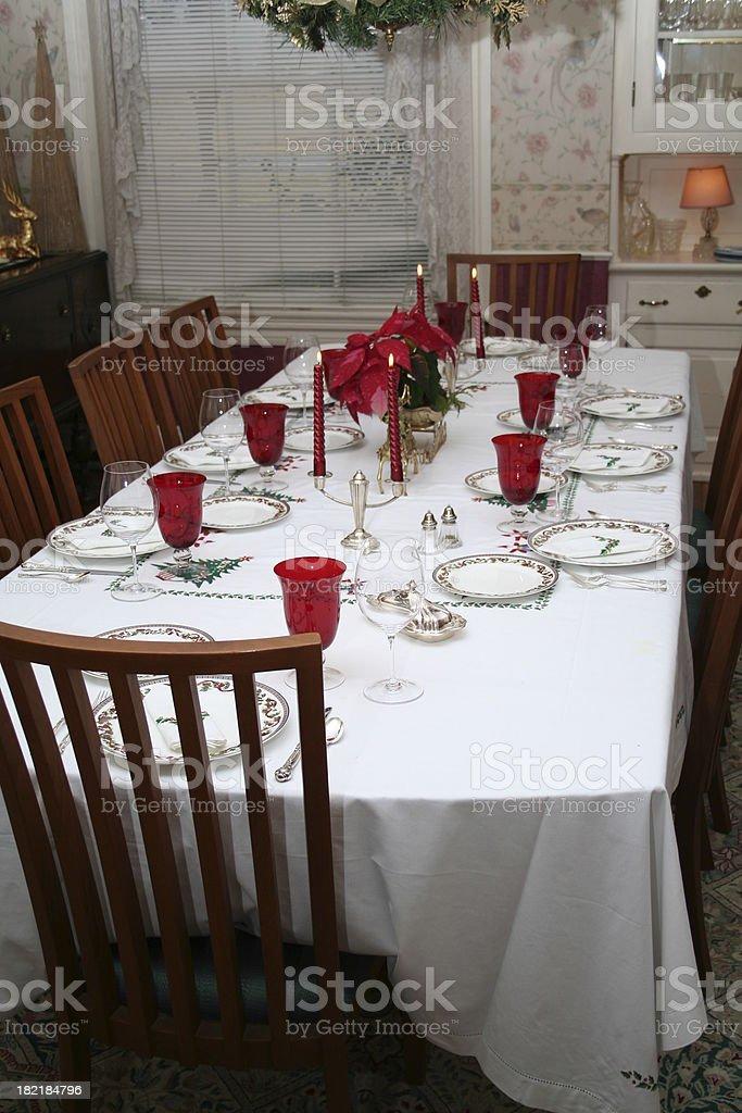 Christmas Formal Table Setting royalty-free stock photo
