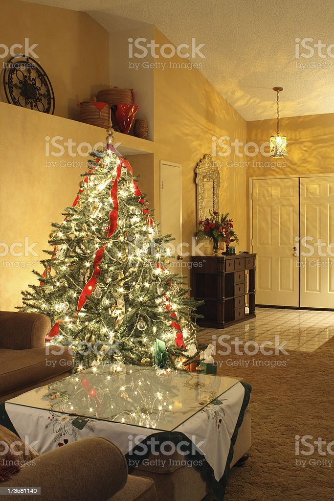 Christmas Foyer royalty-free stock photo