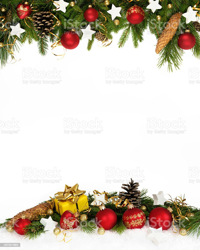 christmas frame four-fifths stock photo