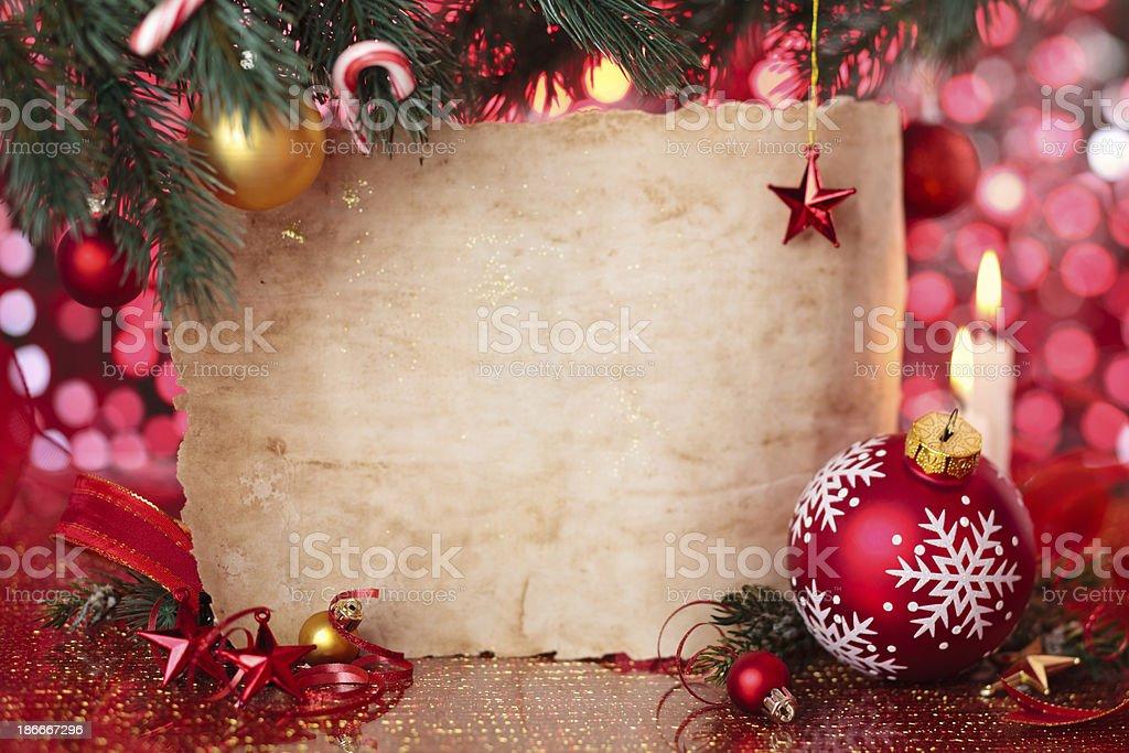 Christmas frame. stock photo