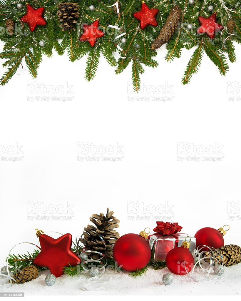 christmas frame red stars  four-fifths stock photo