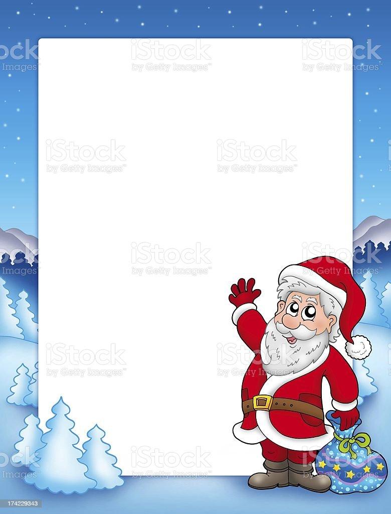 Christmas frame with Santa Claus 2 royalty-free stock photo