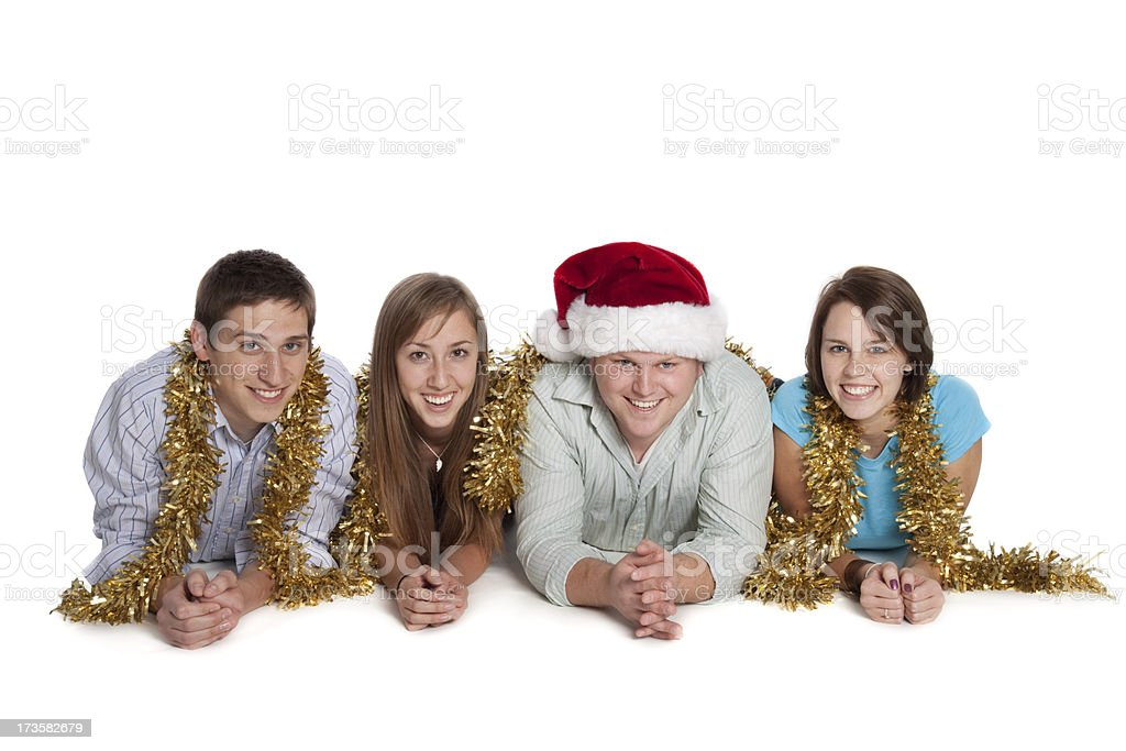 Christmas Friends royalty-free stock photo